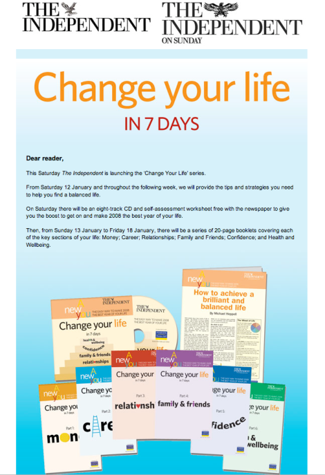 Change you life with the daily telegraph